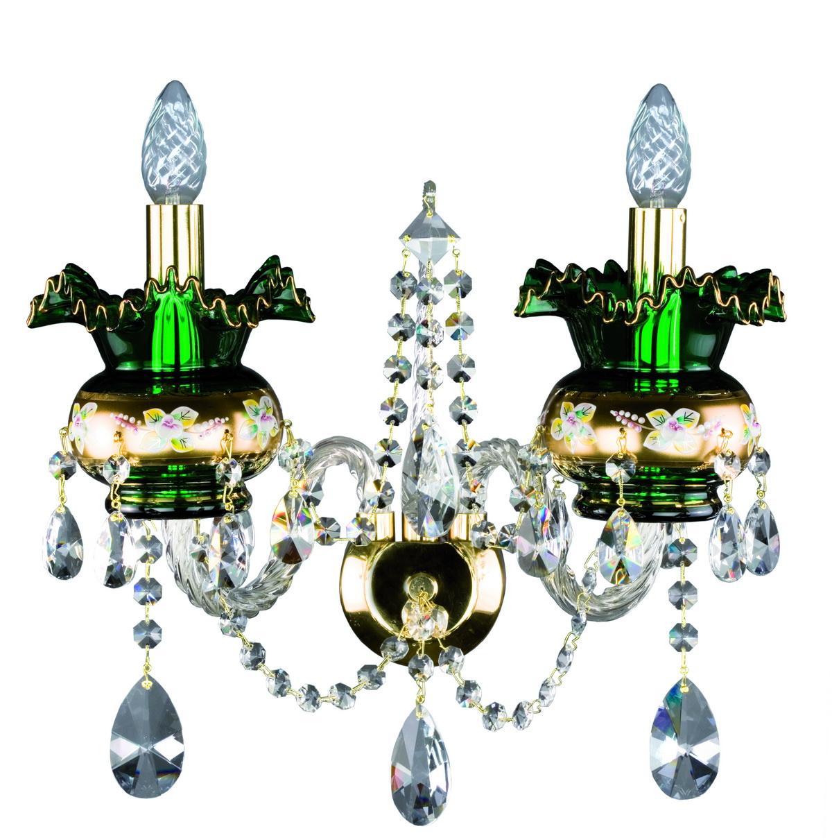 2x40w Sconce Crystal Treasury Com