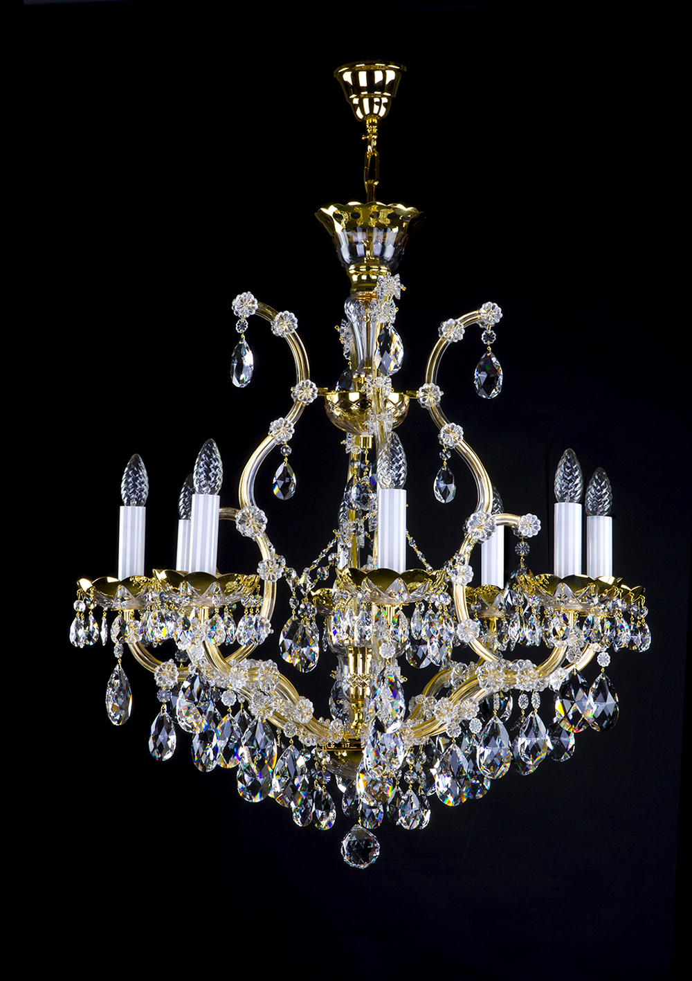 Maria theresa chandelier 9 bulbs crystal treasury arubaitofo Choice Image