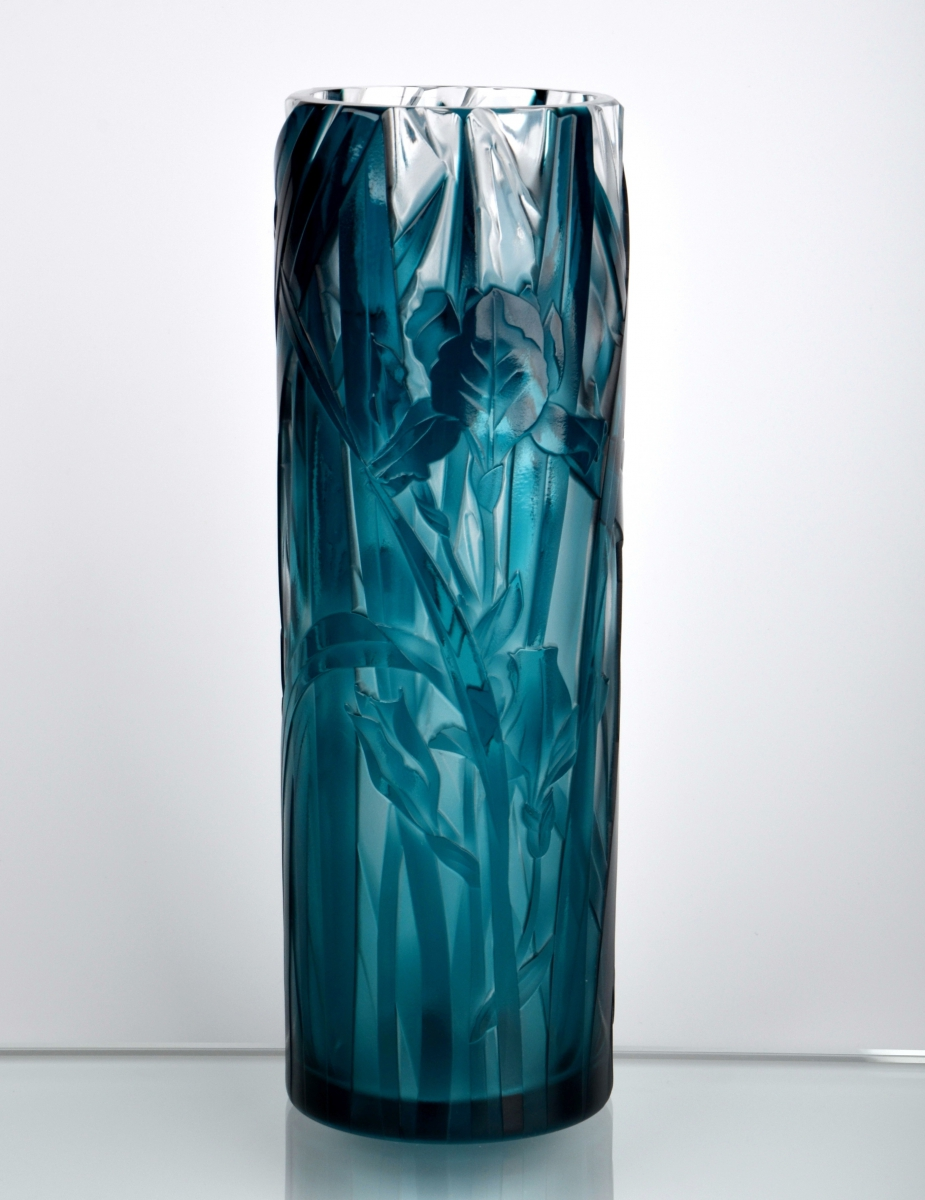 Tall Iris Vase Crystal Treasury Com