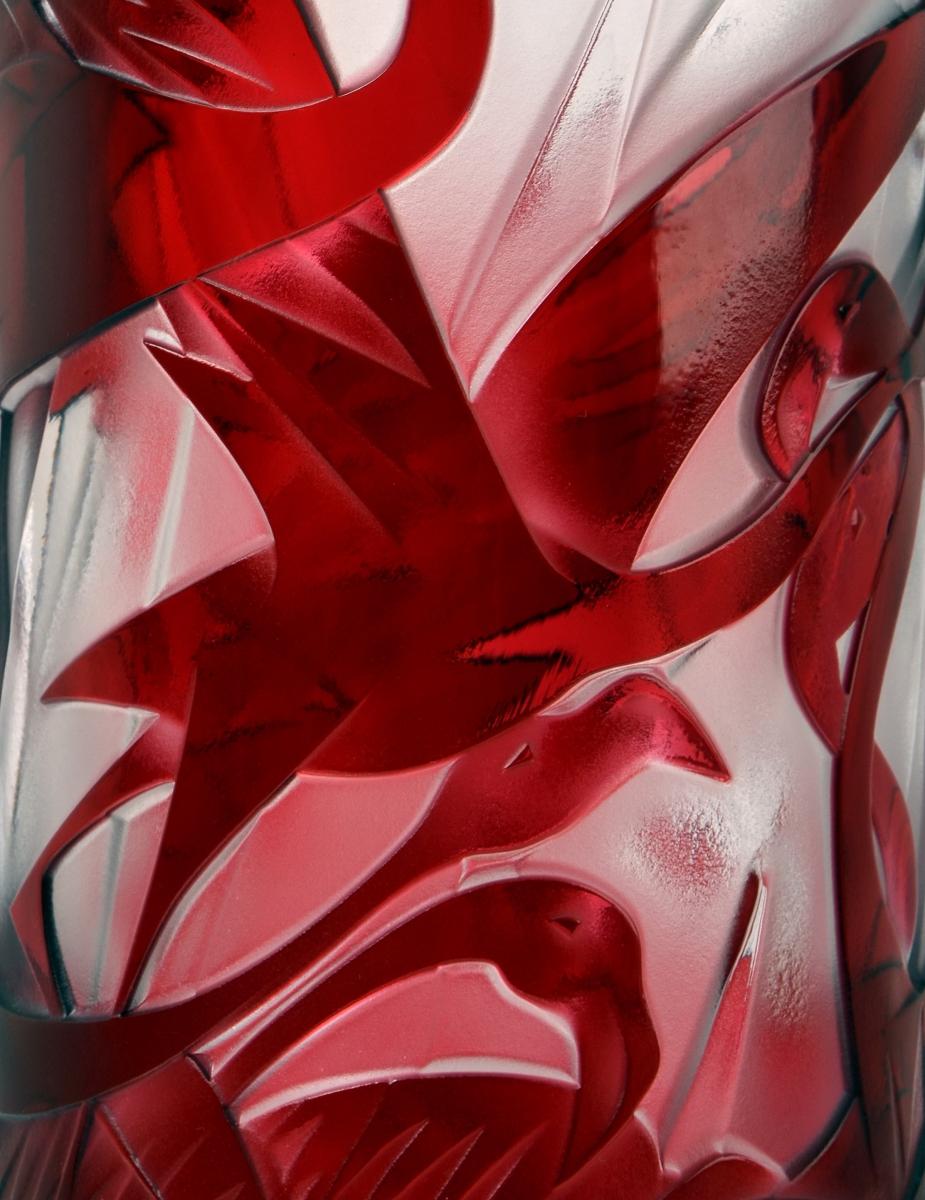 Crystal Flamingo Vase Crystal Treasury Com