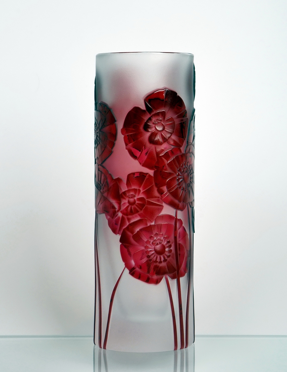 Crystal Poppies Vase Crystal Treasury Com