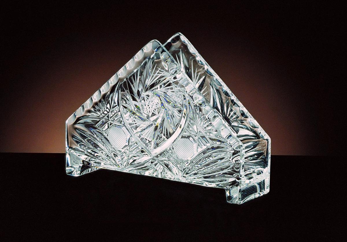 Cut Crystal Glass Napkin Holder Crystal Treasury Com