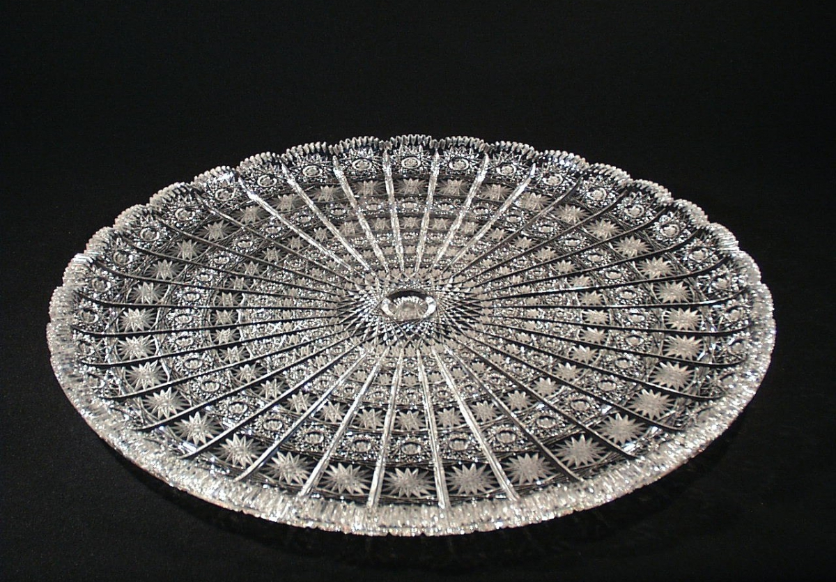 Large Bohemia Crystal Plate Crystal Treasury Com