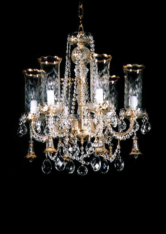 6 Bulb Chandelier Crystal Treasury Com