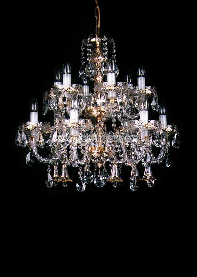 12 Bulb Chandelier Crystal Treasury Com