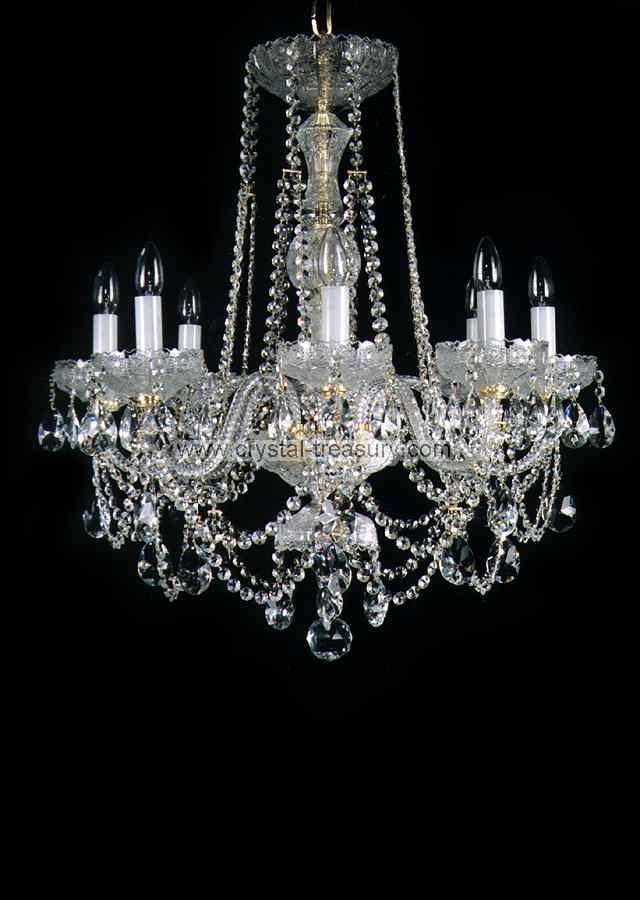 8 Bulb Chandelier Crystal Treasury Com