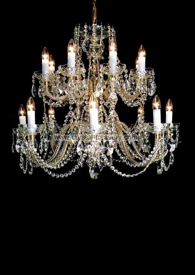 16 Bulb Chand 24 Pbo Crystal Treasury Com