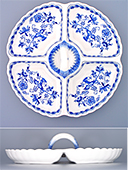 Four Compartments Porcelain Bowl