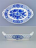 Oval Bowl With Handles, Perforations