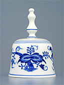 Blue Onion Porcelain Bell