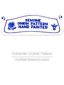 Blue Onion Pattern Plaque