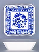 Blue Onion Square Salad Bowl