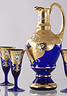 Blue Enameled Wine Set (7pcs)