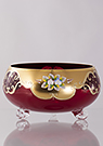High Enamel Three-legged Bowl