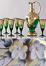 Green Enameled Wine Set (7pcs)