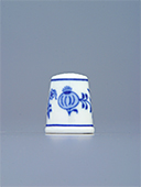 Blue Onion Porcelain Thimble N3