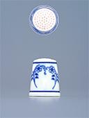 Blue Onion Porcelain Thimble N4
