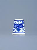 Blue Onion Porcelain Thimble N5