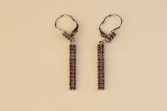 Garnet Earrings Stripes