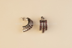 Garnet Earrings Spur