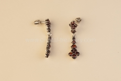 Garnet Earrings Bohemia