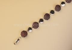 Garnet Bracelet Round