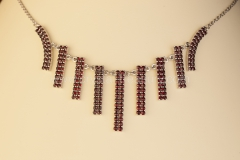 Garnet Necklace Stripes
