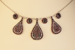 Garnet Necklace Drop