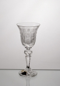 Laura Small White Wine Crystal Glasses