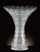 Lead Crystal Funnel Vase