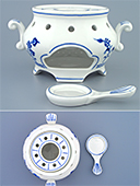 Blue Onion Porcelain Tea Warmer