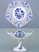 Zwiebelmuster Footed Pentagonal Bowl - L