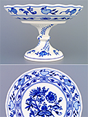 Zwiebelmuster Footed Fruit Bowl