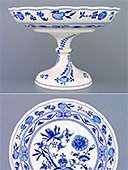 Tall Zwiebelmuster Footed Fruit Bowl