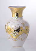 Opal Enameled Gilded Ancient-Style Vase