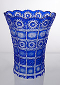 Cobalt Crystal Fat Pot Vase