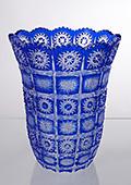 Cobalt Blue Crystal Bell Vase