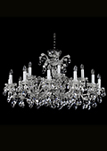 Nickel Maria Theresa Chandelier 18 bulbs