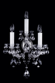 Nickel Maria Theresa Sconce with 3 bulbs