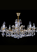 Theresian Crystal Chandelier 8 bulbs