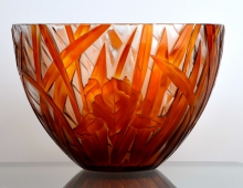 Crystal Iris Bowl