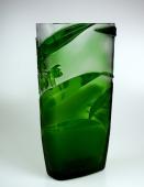 Crystal Glass Green Solanum Vase