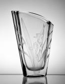 Czech Crystal Iris Vase