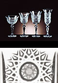 Laura Red/White Wine Crystal Glasses