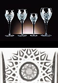 Adele Cut Crystal Large Wine Glasses