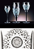 Adele Cut Crystal Wine Glasses
