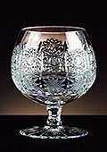 Lead Crystal Cut Brandy Glass