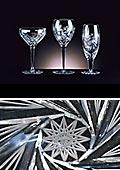 Adele Pinwheel Goblet Crystal Glass