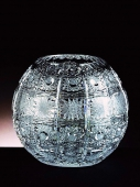 Round Crystal Glass Vase