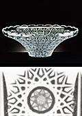 Cut Lead Crystal Funnel Bowl